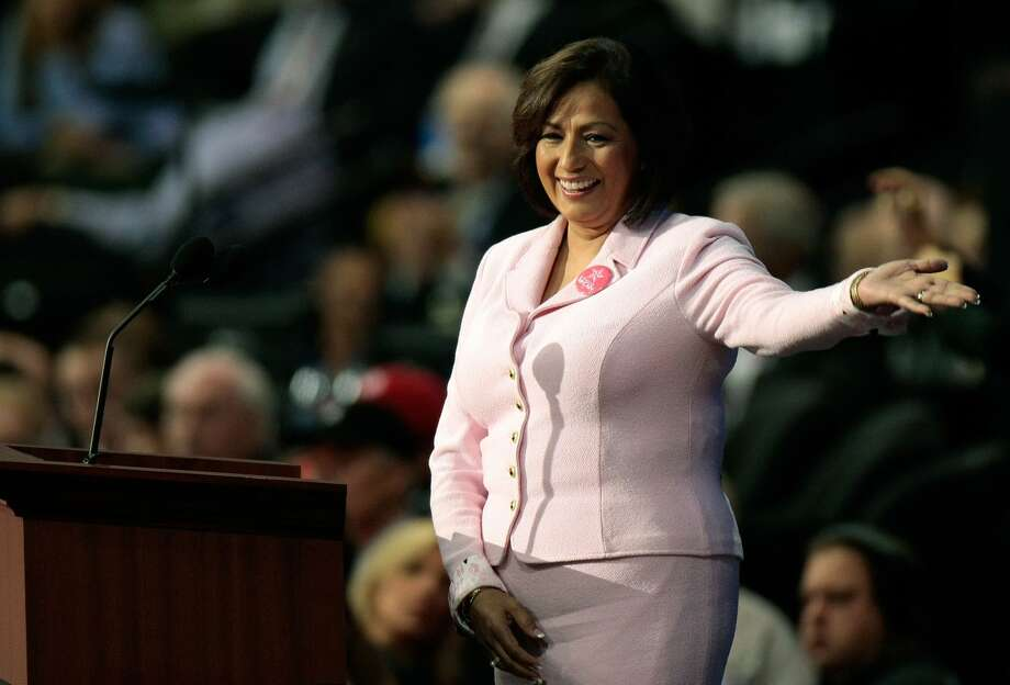 ST. PAUL, MN - SEPTEMBER 04:  Former U.S. Treasurer Rosario Marin acknowledges the crowd on day four of the Republican National Convention (RNC) at the Xcel Energy Center on September 4, 2008 in St. Paul, Minnesota. U.S. Sen. John McCain (R-AZ) will accept the GOP nomination for U.S. President Thursday night.  (Photo by Win McNamee/Getty Images) Photo: Win McNamee/Getty Images
