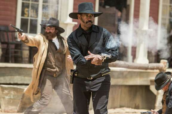 "Denzel Washington as Chisolm in the movie ""The Magnificent Seven"" directed by Antoine Fuqua. (Sam Emerson/Columbia Pictures/TNS)"
