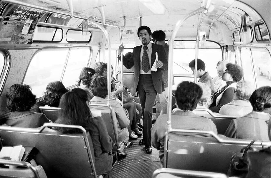 Bobby Seale campaigns, 1973. Photo: Stephen Shames, Courtesy Steven Kasher Gallery, Polaris