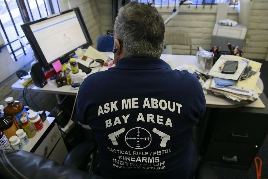 Scott Jackson, owner of Bay Area Firearms Instruction in Burlingame, opposes Proposition 63. Photo: Michael Macor, The Chronicle