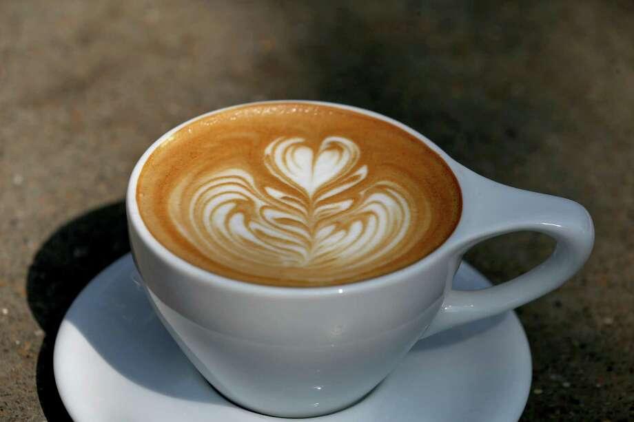 Latte art at Local Coffee at The Pearl. Photo: Edward A. Ornelas /San Antonio Express-News / © 2016 San Antonio Express-News