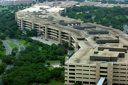 USAA's main building is seen in 2005. The financial services firm will move 2,000 jobs downtown under a plan under Council consideration.