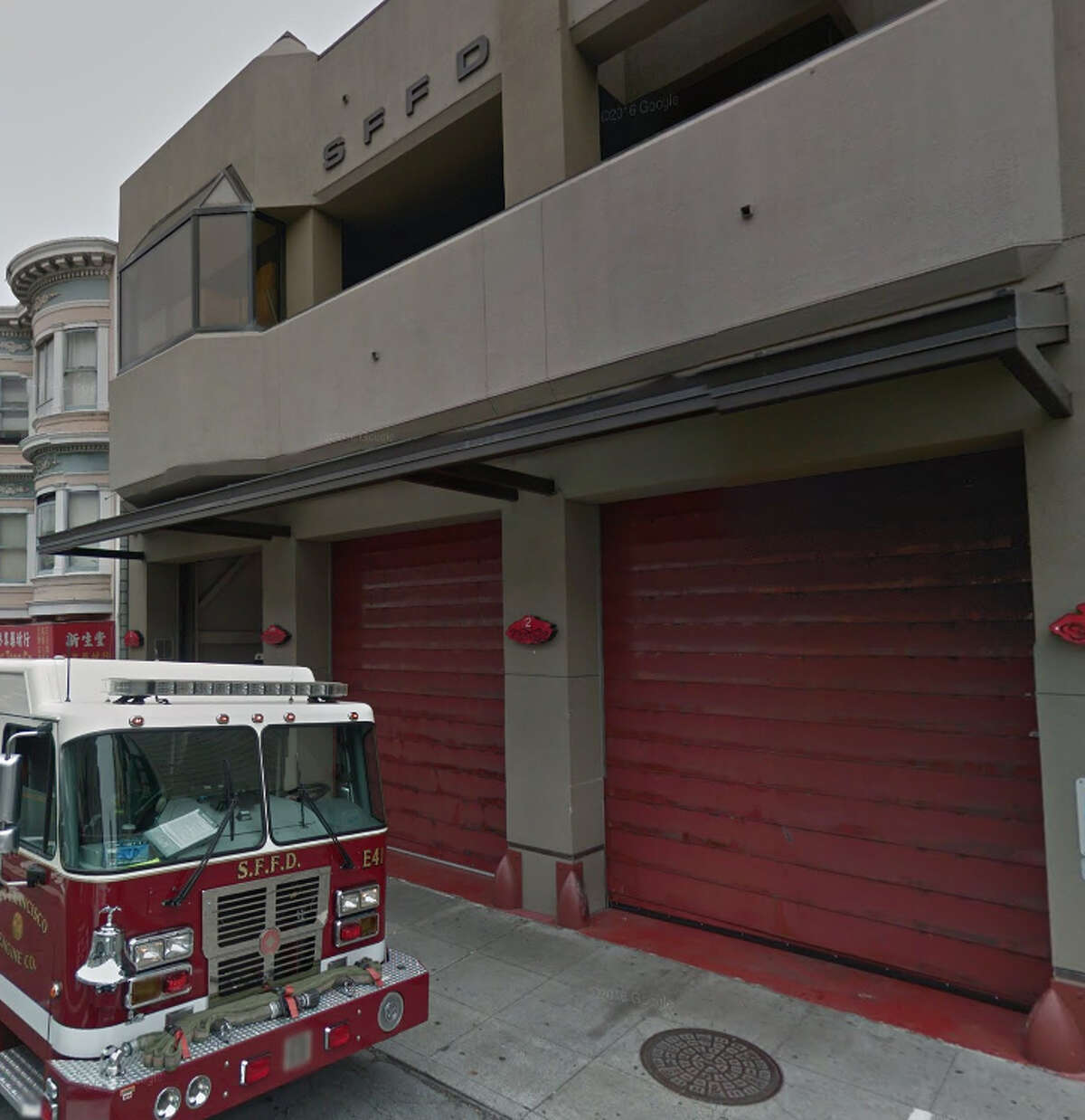 Outside Station 2 in Chinatown, where male firefighters allegedly harassed a female co-worker.