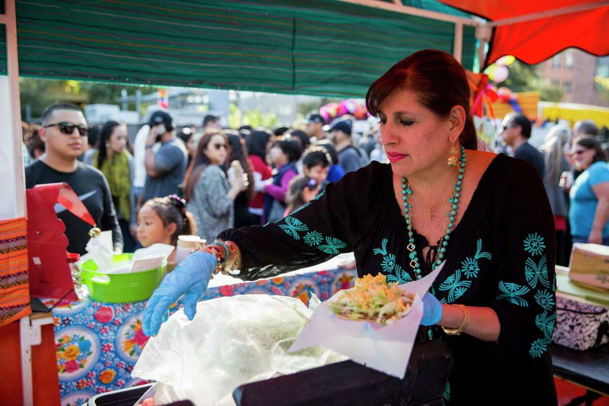 Diana Barrios Treviño, pictured during the Tamales Holiday Festival in 2015, plans to open her restaurants May 1.