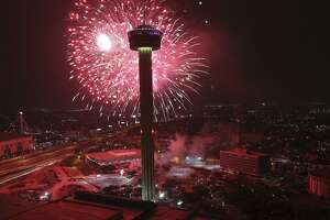 The city's New Year's Eve celebration will conclude with fireworks over the Tower of the Americas.