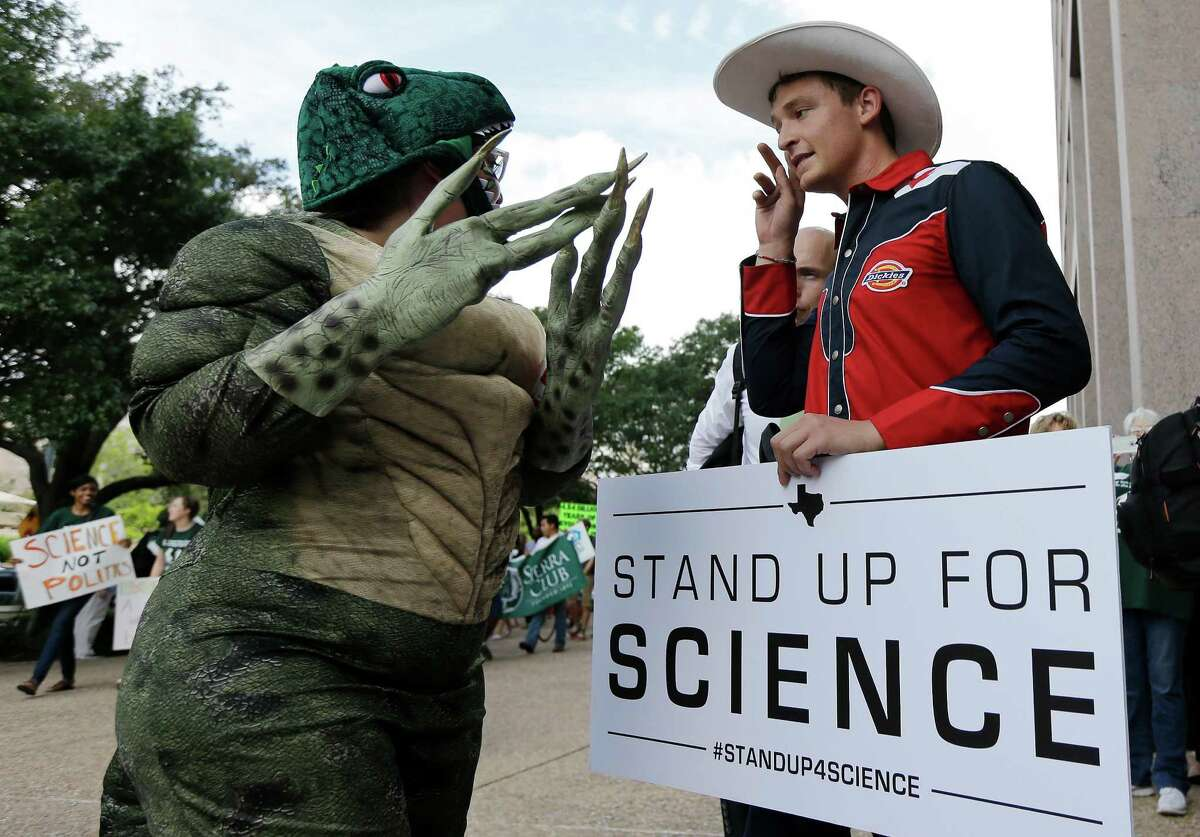 """During the debate on science standards in 2009, the SBOE board chair infamously declared that """"someone's gotta stand up to experts."""""""