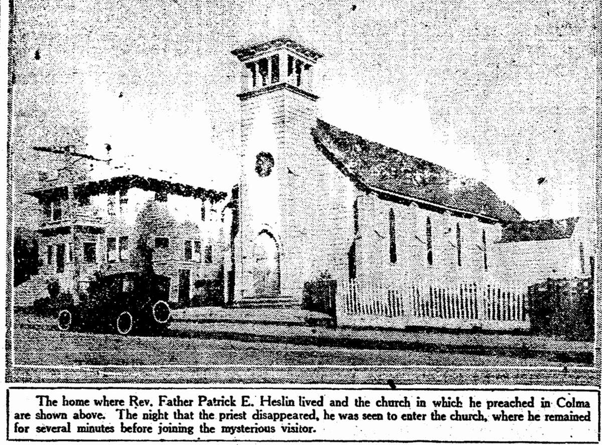 Holy Angels Church in Colma where Father Patrick Heslin lived before his kidnap and murder.