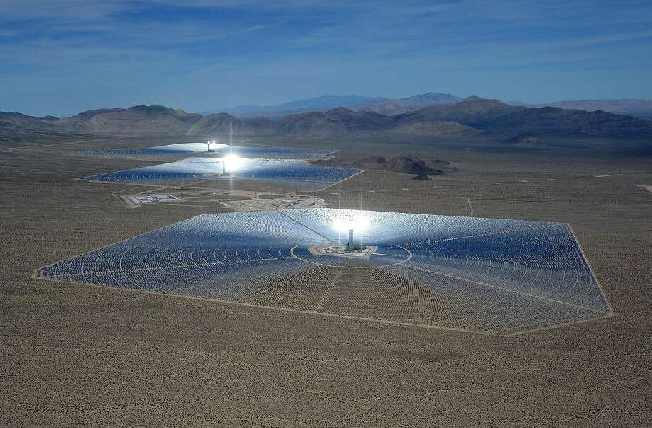 The Ivanpah Solar Electric Generating System is one of many that contributed to a new milestone for renewable energy in California. Photo: Ethan Miller, Getty Images