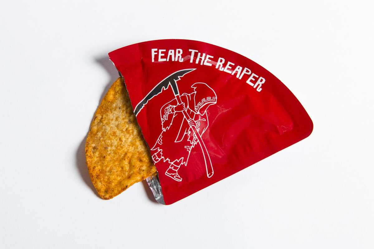 Packaging for the Carolina Reaper Madness chip.