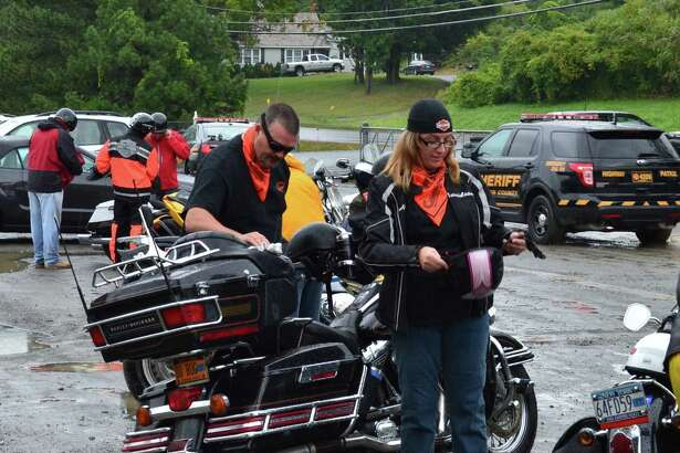 Motorcyclists and classic car enthusiasts turned out in Troy Sunday for a charity ride sponsored by Callanan Industries, an aggregate, asphalt and concrete products and construction services firm. The ride, inspired by a Callanan employee's battle with lymphoma, raised $13,835 for the Upstate New York/Vermont Chapter of the Leukemia and Lymphoma Society. The ride went from Troy to Bethlehem in about two hours. (Submitted photo)