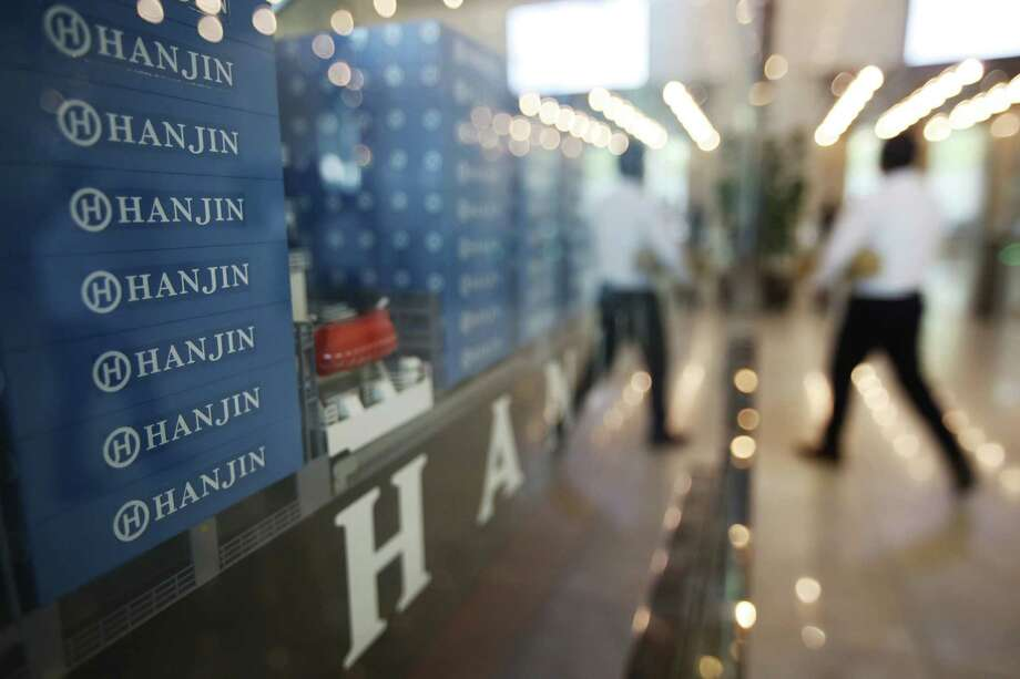 A model of container ship with Hanjin Shipping Co.'s logos is displayed at its head office in Seoul, South Korea, Thursday, Sept. 22, 2016. Hanjin Shipping is to receive as much as $100 million in additional funds to resolve the cargo crisis caused by its slide toward bankruptcy. (Park Dong-ju/Yonhap via AP) KOREA OUT Photo: Park Dong-ju, SUB / Yonhap