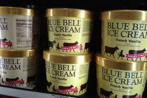 In this April 10, 2015 file photo, Blue Bell ice cream rests on a grocery store shelf in Lawrence, Kansas. In the wake of a deadly listeria outbreak in ice cream, the Justice Department is warning food companies that they could face criminal and civil penalties if they poison their customers. (AP Photo/Orlin Wagner, File)