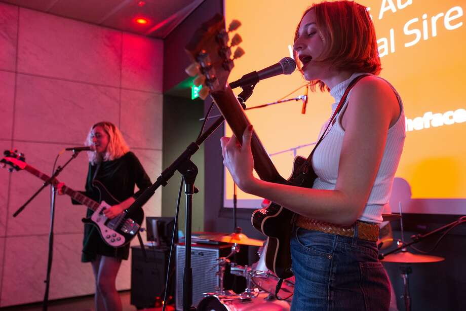 The She's perform at Dolby Laboratories on Thursday, Sept. 22, 2016 in San Francisco, Calif. Women?'s Audio Mission (WAM) put on the concert with local musicians. WAM helps women from underserved communities pursue careers in the music industry and audio engineering. Photo: Santiago Mejia, Special To The Chronicle