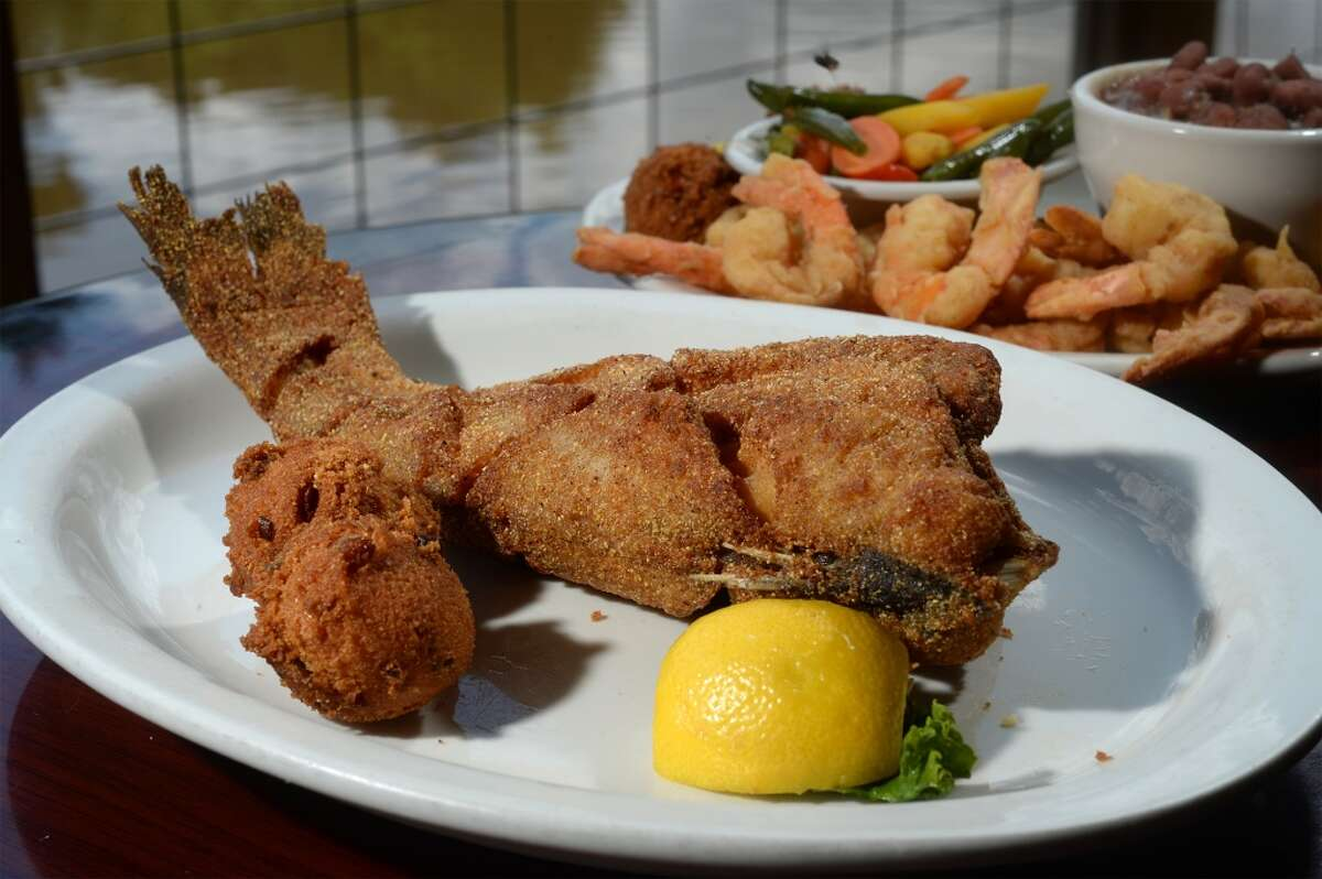 Catfish and hushpuppies at the Pine Tree Lodge on Wednesday. Photo taken Wednesday, September 14, 2016 Guiseppe Barranco/The Enterprise