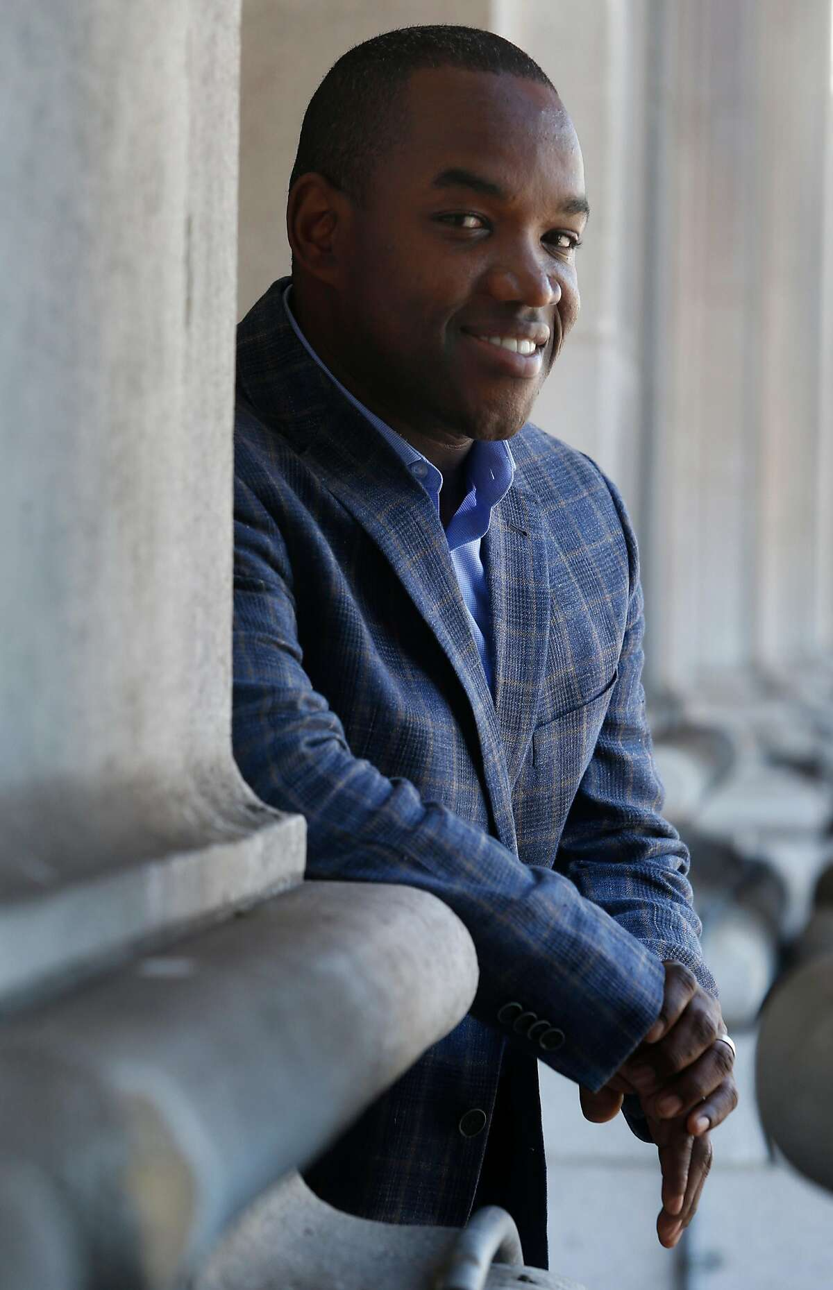 """Operatic tenor Lawrence Brownlee visits the War Memorial Opera House in San Francisco, Calif. on Thursday, Sept. 22, 2016. Brownlee is appearing in his debut with the San Francisco Opera in the upcoming production of """"Don Pasquale"""" opening on Sept. 28."""