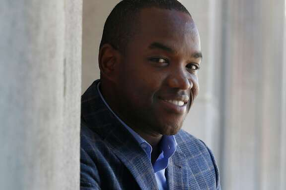 "Operatic tenor Lawrence Brownlee visits the War Memorial Opera House in San Francisco, Calif. on Thursday, Sept. 22, 2016. Brownlee is appearing in his debut with the San Francisco Opera in the upcoming production of ""Don Pasquale"" opening on Sept. 28."