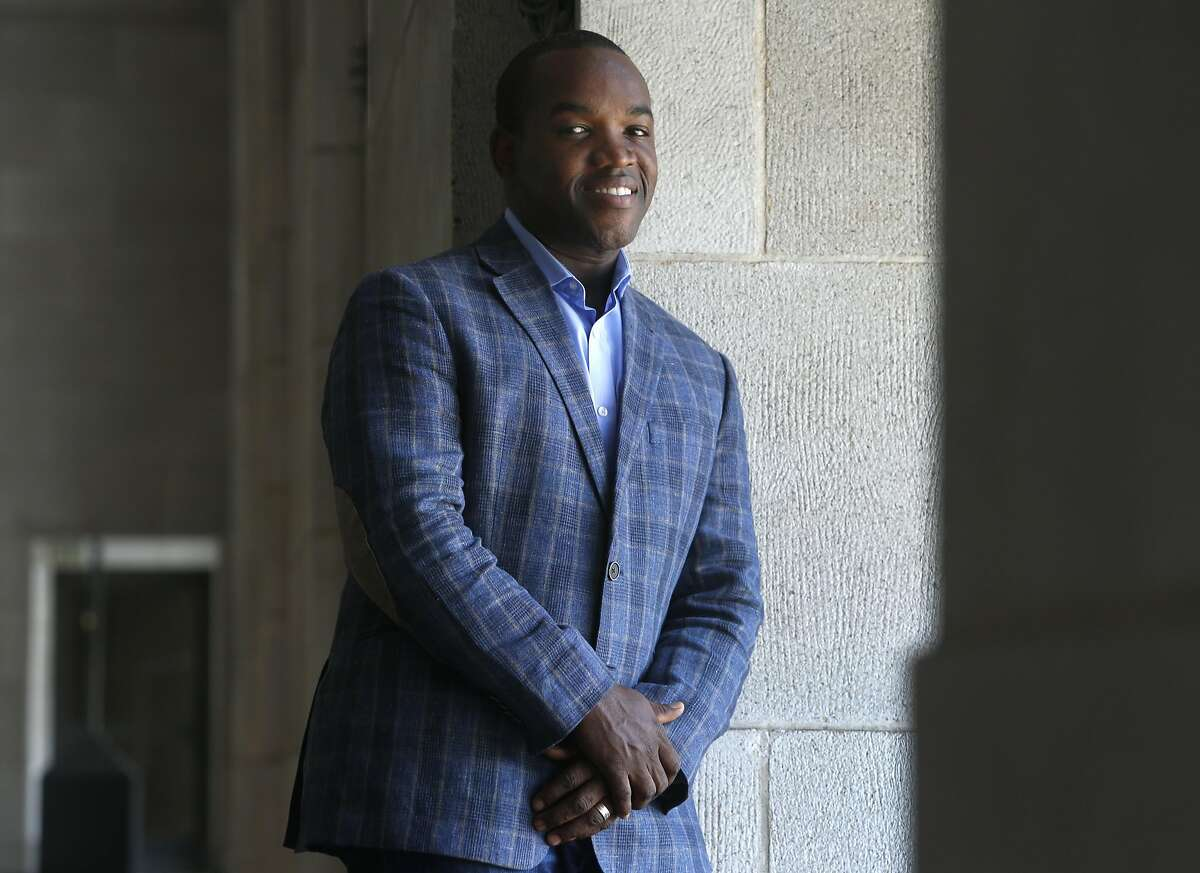 Operatic tenor Lawrence Brownlee visits the War Memorial Opera House in San Francisco, Calif. on Thursday, Sept. 22, 2016. Brownlee is appearing in his debut with the San Francisco Opera in the upcoming production of