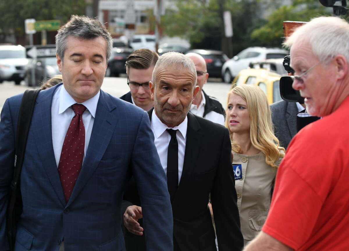 SUNY Polytechnic Institute Founding President and CEO Alain Kaloyeros leaves Albany City Courthouse following his arraignment on state charges on Friday morning, Sept. 23, 2016, in Albany, N.Y. (Will Waldron/Times Union)