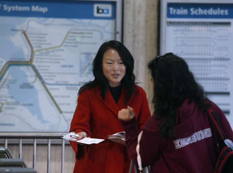 San Francisco Supervisors Jane Kim, left, and Scott Wiener had a cordial debate in their race for a state Senate seat. Photo: Paul Chinn, The Chronicle
