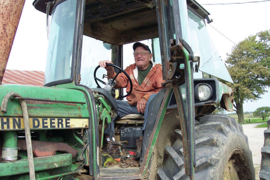 Rich Harp/For the Tribune Ervin Schave is a very active 93-year-old farmer from the Port Hope area.