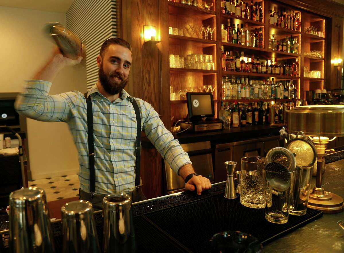 Grant Walker, bar manager at the new Eloise Nichols Grill & Liquors restaurant, 2400 Mid Lane.