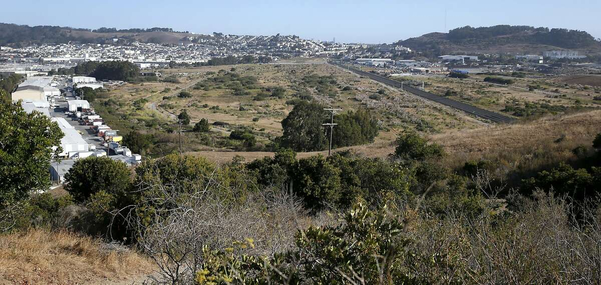 An aging industrial business park is located on the western edge of open space land between Bayshore Boulevard and Highway 101 in Brisbane, Calif. on Thursday, Sept. 3, 2015. The Baylands mixed-use development project is planned for the 660-acre site.