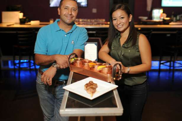 Co-owners of Steak 42 restaurant JB Sosa (right) and her brother-in-law Richard Padilla(left),