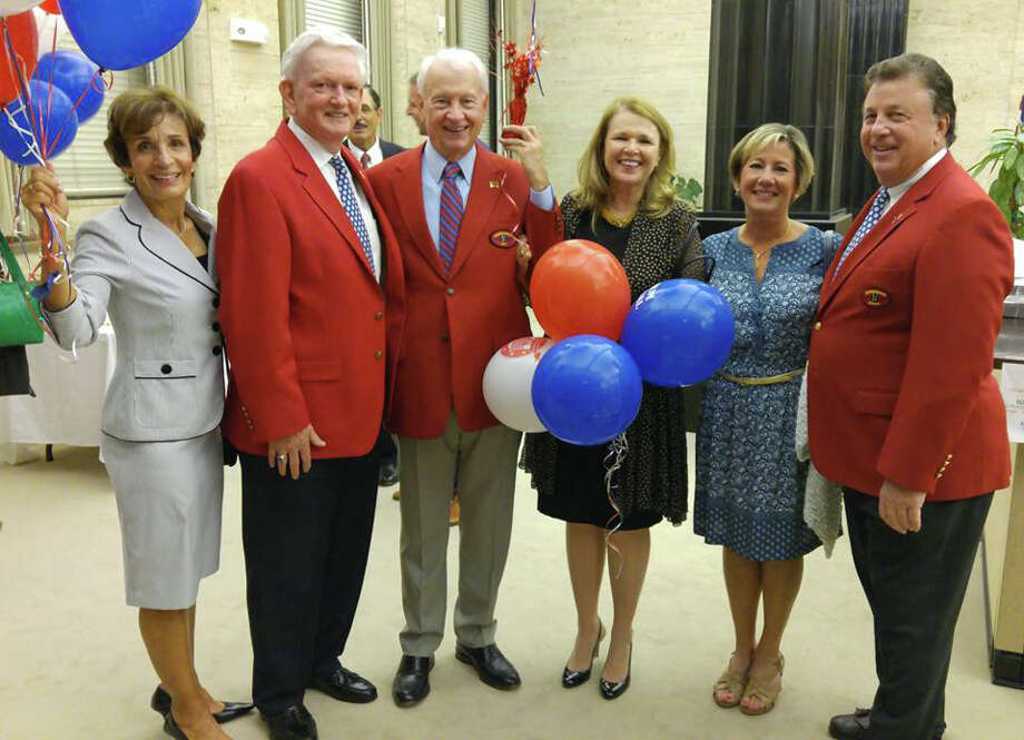 Pat and Frank J. Carroll, with 2017 Barnum Ringmaster Terry O'Connor and his wife Mary Ann O'Connor and Cindy and Mike Niedermeierat the ringmaster announcement  at the Aquarion Water Company in Bridgeport, Conn. on Thursday, September 22, 2016. O'Connor of Trumbull, 69, is the Executive Director of Cardinal Shehan Center and McGivney Community Cente rand the 69th Ringmaster of the Barnum Festival Photo: Contributed Photo / Contributed Photo / Connecticut Post Contributed