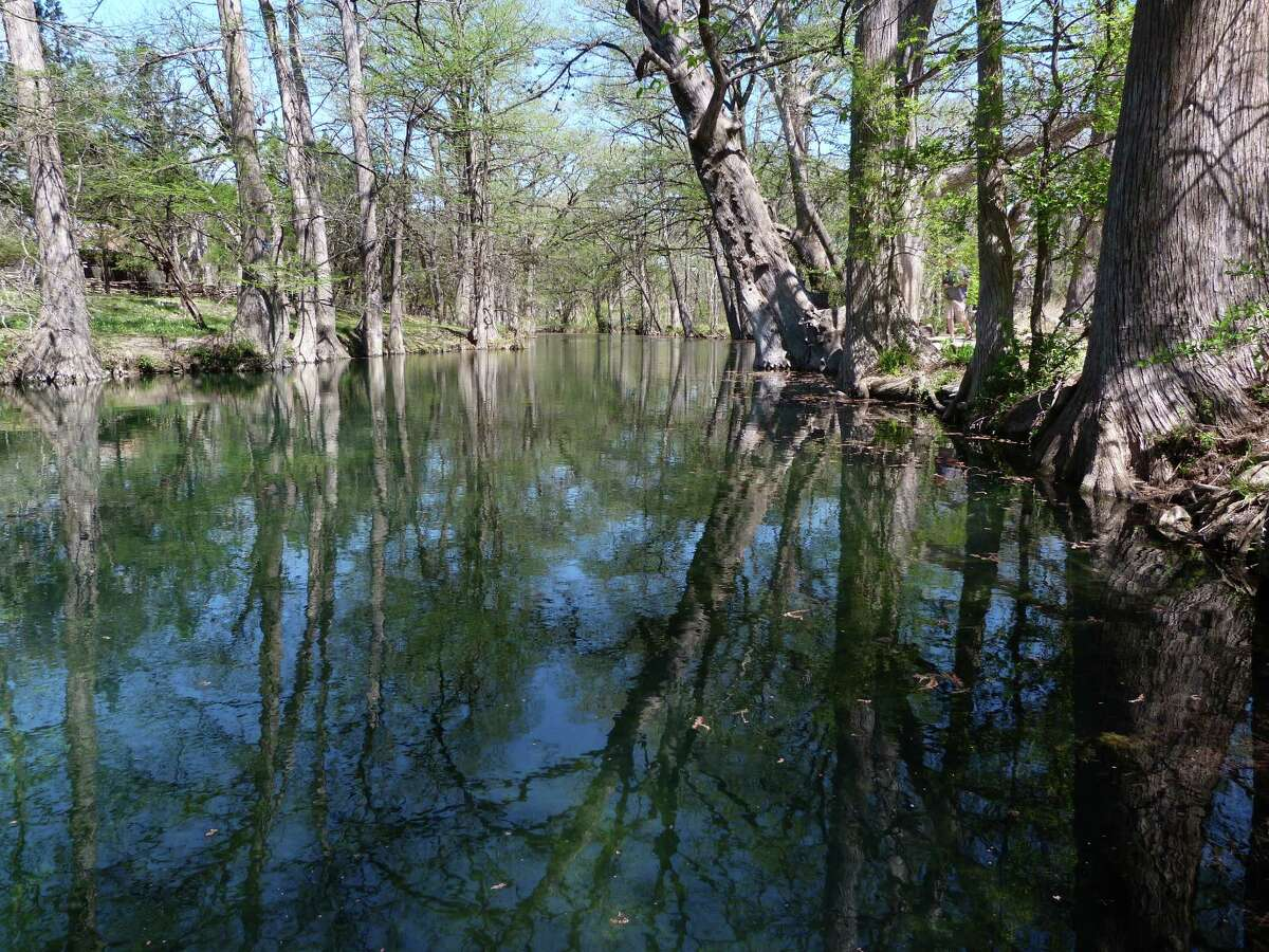 The Blue Hole in Wimberley is known as one of the best swimming holes in Texas, seen here in April 2015.