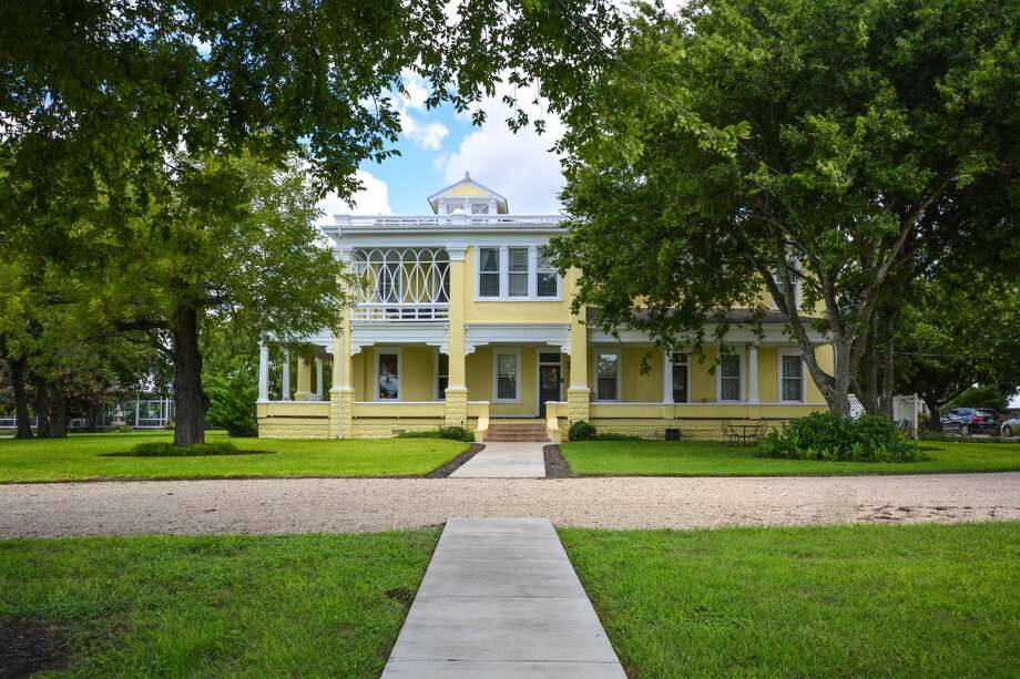 This iconic Victorian-style home in Taylor, Texas has hit the market at $2.75 million. The five-bedroom, three-bathroom estate was built in 1878. Photo: Courtesy, DMTX Realty