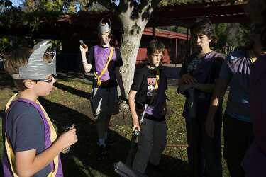 Kids LARP into action armed with foam weapons, imagination