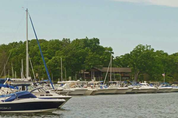 A report from the State of Connecticut Harbormaster for Darien, Tom Bell, says boat channels in Darien Harbor, above, are in fairly good shape and not in need of dredging. Some silting in the east west channel north of the Darien Boat Club's docks.