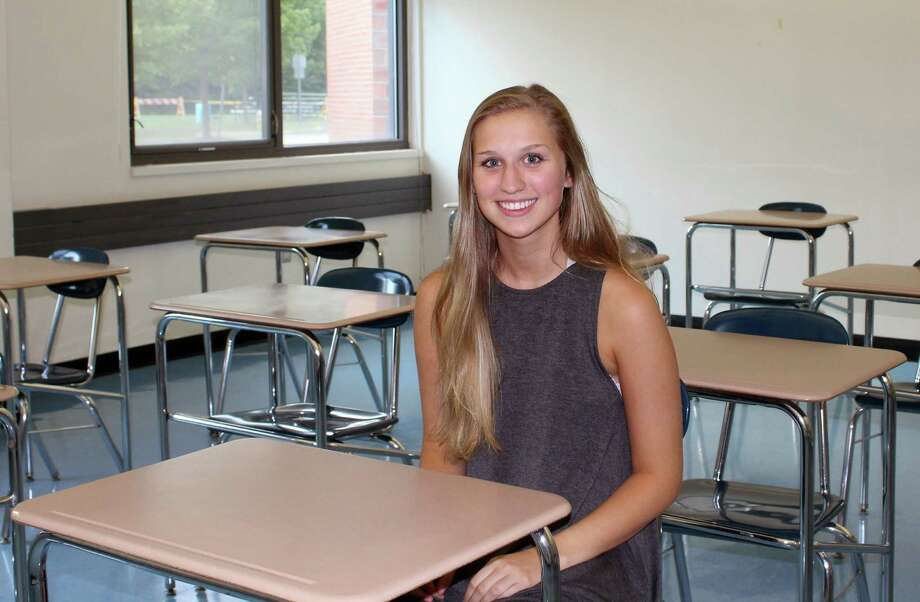 Avery Brook, community council president of Darien High School, hopes to bring attention to the array of talents in DHS. Photo: Erin Kayata / Hearst Connecticut Media / Darien News