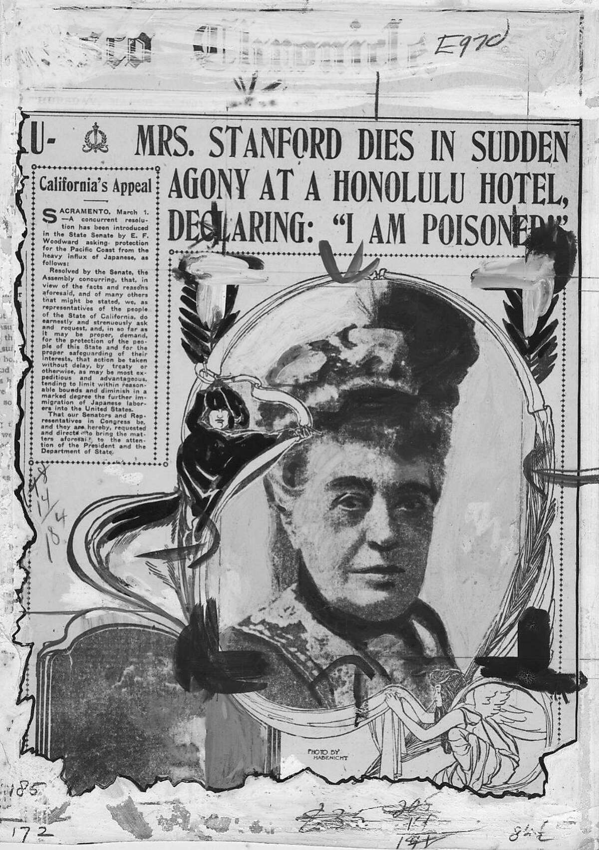The San Francisco Chronicle's coverage of Mrs. Stanford's murder.