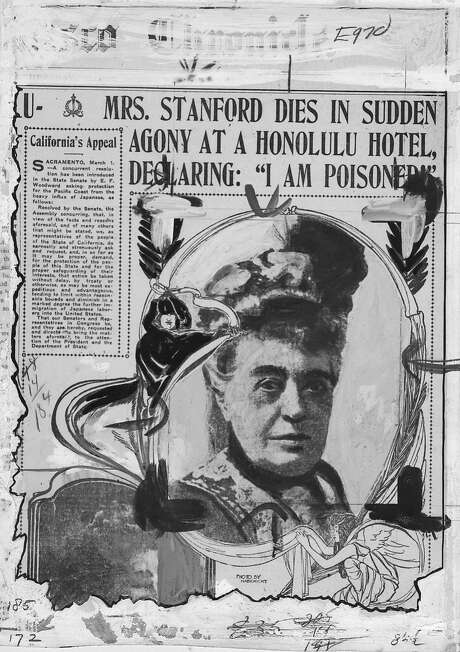 The San Francisco Chronicle's coverage of Mrs. Stanford's murder. Photo: SFC