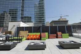 Aloft added a roof-top pool and patio to its downtown Houston location. Photographed on Wednesday, Sept. 21, 2016, in Houston. ( Elizabeth Conley / Houston Chronicle )Aloft added a roof-top pool and patio to its downtown Houston location. Photographed on Wednesday, Sept. 21, 2016, in Houston. ( Elizabeth Conley / Houston Chronicle )