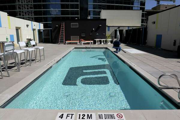 Aloft added a roof-top pool and patio to its downtown Houston location. Photographed on Wednesday, Sept. 21, 2016, in Houston. ( Elizabeth Conley / Houston Chronicle )