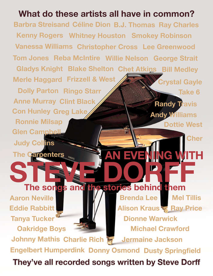 Composer Steve Dorff will be at the Danbury Palace on Saturday, Oct. 1, to perform many of his popular songs. Some of the artists who have recorded his songs are shown on the above poster. Photo: Steve Dorff /Contributed Graphic