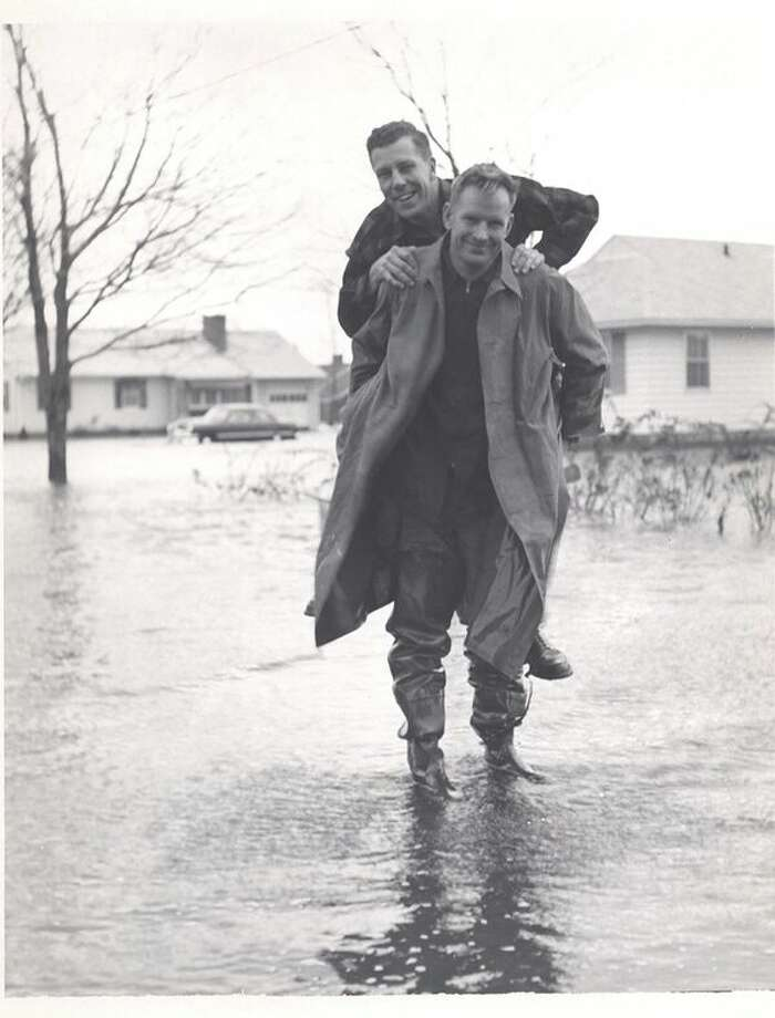 "The Fairfield Museum's new exhibit is ""Rising Tides ... Past to Future,"" running Sept. 29 through Feb. 28. Above is a photo from the museum's collection taken during a 1953 storm. Photo: Fairfield Museum /Contributed Photo"