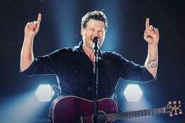 Country star Blake Shelton performs at Hartford's XL Center on Friday, Sept. 30.