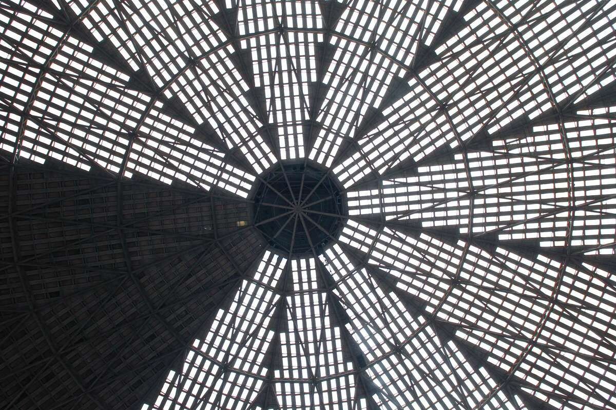The iconic ceiling of the Astrodome.