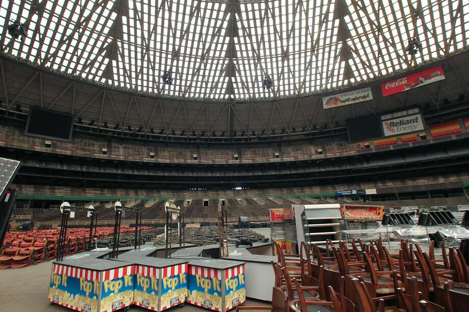 MYTH: An army of cats lives in and controls the inside of the Astrodome.VERACITY: The only thing inside the Dome is equipment for NRG Stadium, some old Dome seats, and some Houston sports memories.  Photo: Steve Gonzales/Houston Chronicle