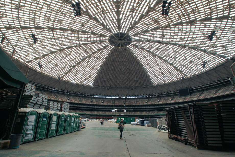 The Harris County Commissioner's court will vote on a $105 million plan to turn the Astrodome into a parking garage. Friday, Sept. 23, 2016, in Houston. ( Steve Gonzales  / Houston Chronicle ) Photo: Steve Gonzales/Houston Chronicle