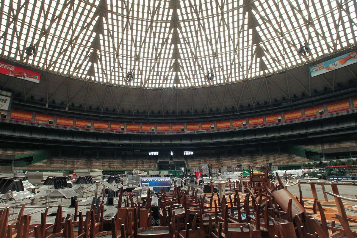 The Astrodome, as seen in September. For other recent Dome photos, scroll through the gallery.