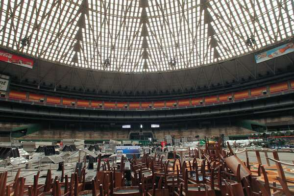 The Harris County Commissioner's court will vote on a $105 million plan to turn the Astrodome into a parking garage. Friday, Sept. 23, 2016, in Houston. ( Steve Gonzales  / Houston Chronicle )