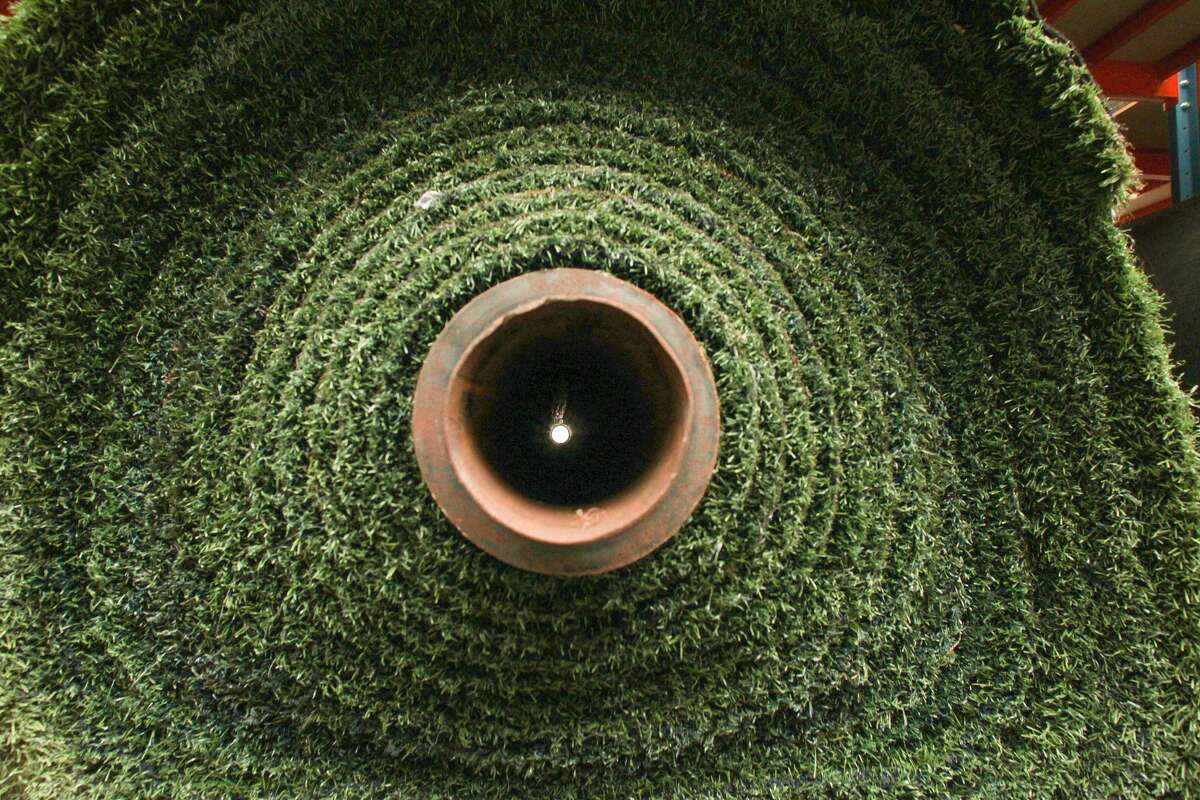 A roll of Astroturf, which was invented for you-know-what.