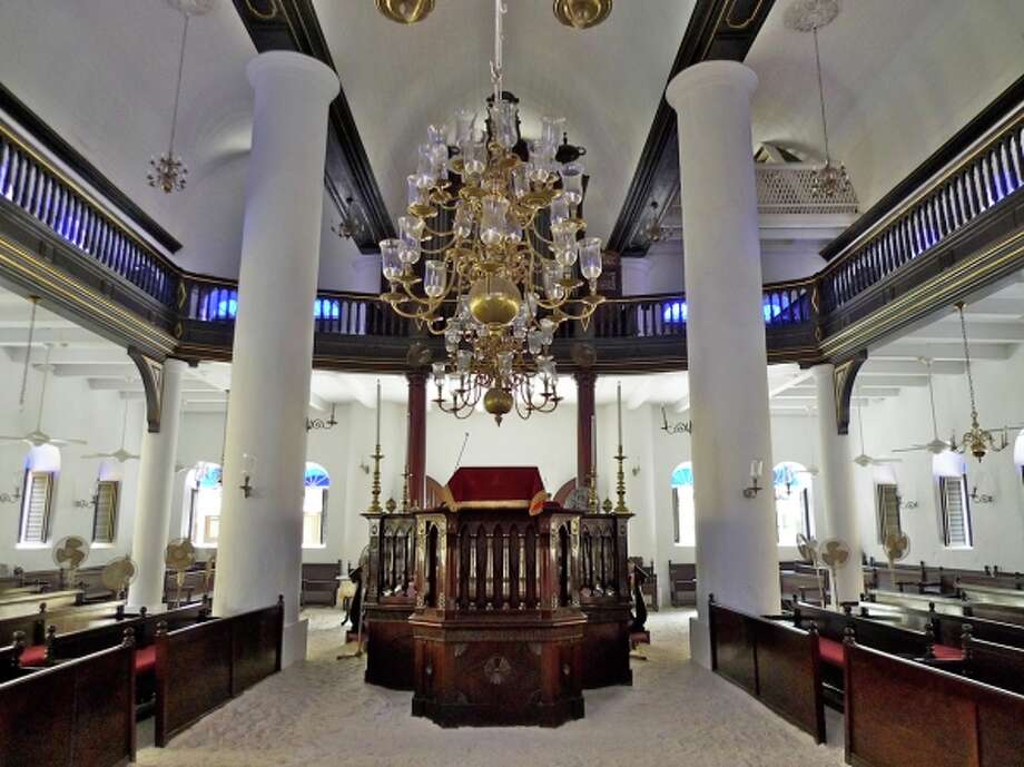 An interior view of the 284-year-old Mikve Israel-Emanuel Synagogue. Photo: Courtesy Mikve Israel-Emanuel
