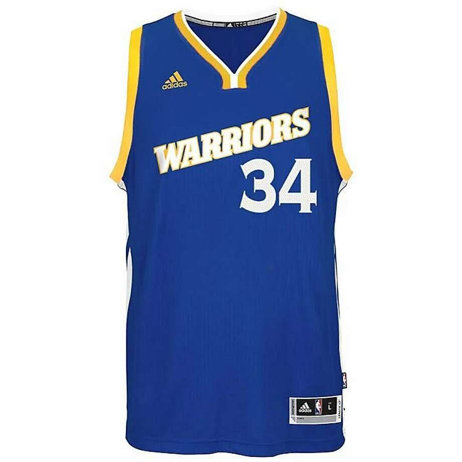 The Warriors will wear Crossover alternate uniforms for select Sunday games this season as a nod to the �Run TMC� era. Photo: Courtesy Of Warriors PR