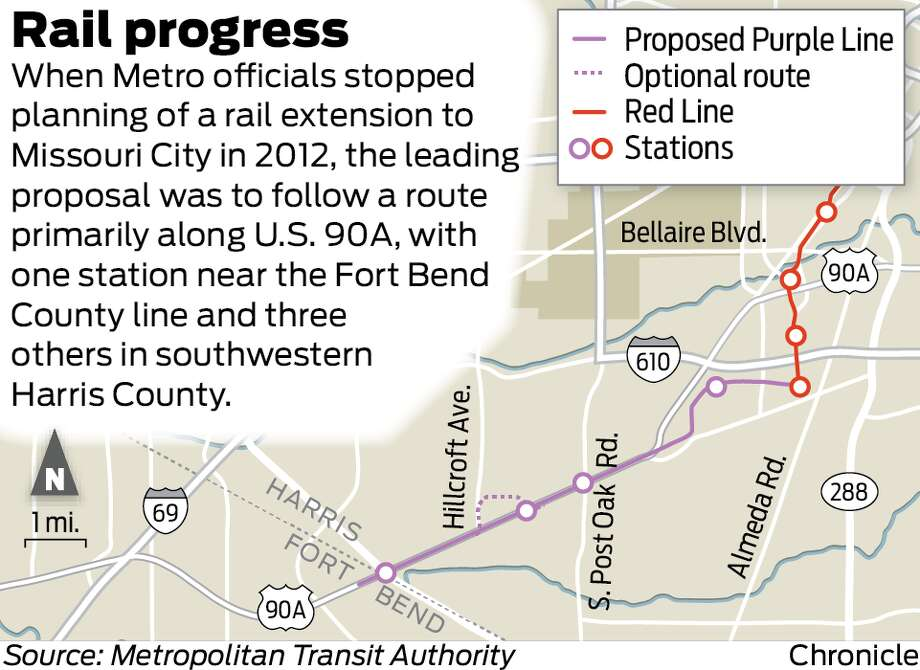 Proposed Metro rail line to Missouri City picks up speed Houston