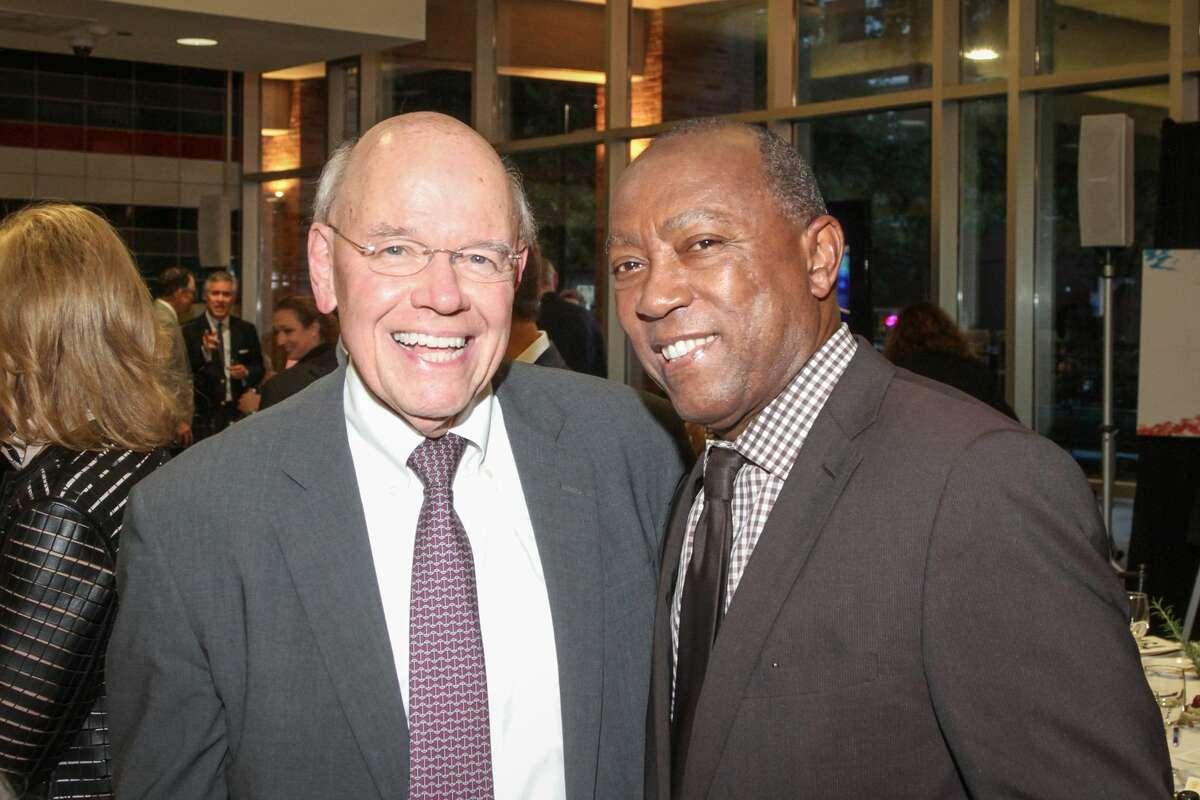 Bob Eury and Mayor Sylvester Turner